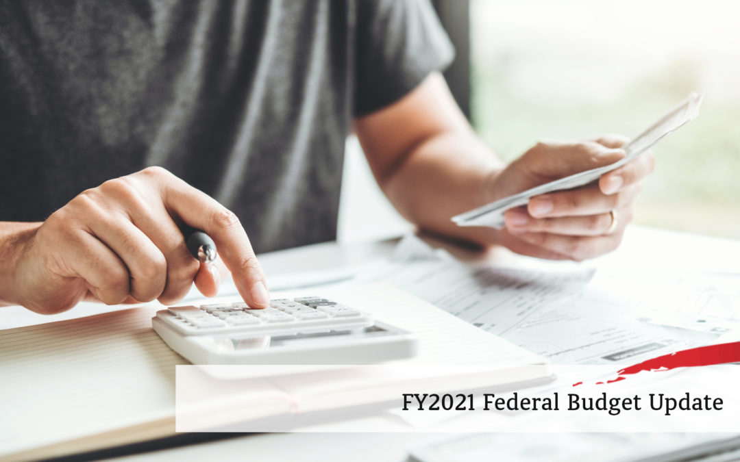 FY2021 Federal Budget Update