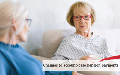 Changes to account-based pension payments